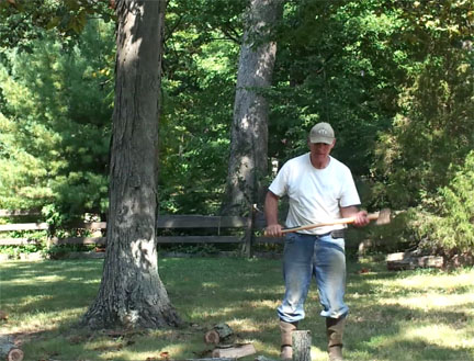 Steve Chopping Wood